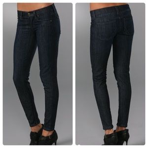 Anlo Brook Skinny Jean with Ankle Zipper in Poe